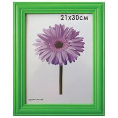 Рамка премиум 21×30 см, дерево, багет 26 мм, «Linda», зеленая