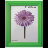 Рамка премиум 21×30 см, «Linda», дерево, зеленая (для дипломов, сертификатов, грамот, фотографий)