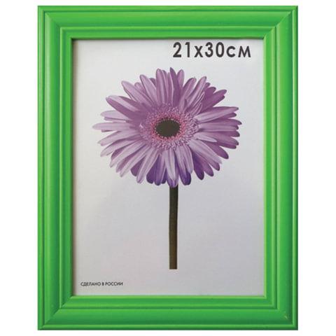 """Рамка премиум 21х30 см, """"Linda"""", дерево, зеленая (для дипломов, сертификатов, грамот, фотографий)"""