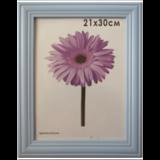 Рамка премиум 21×30 см, «Linda», дерево, голубая (для дипломов, сертификатов, грамот, фотографий)