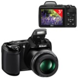 "Фотоаппарат компактный NIKON CoolPix L340, 20 Мп, 28х zoom, 3"" ЖК-монитор, Full HD, черный"