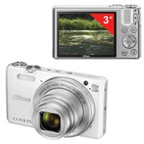 "Фотоаппарат компактный NIKON CoolPix S7000, 16 Мп, 20x zoom, 3"" ЖК-монитор, Full HD, Wi-Fi, белый"