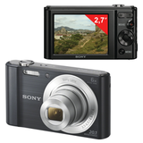 "Фотоаппарат компактный SONY Cyber-shot DSC-W810, 20,4 Мп, 6x zoom, 2,7"" ЖК-монитор, черный"