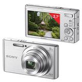 "Фотоаппарат компактный SONY Cyber-shot DSC-W830, 20,4 Мп, 8x zoom, 2,7"" ЖК-монитор, серебристый"
