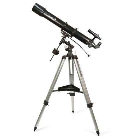 Телескоп LEVENHUK Skyline 90х900 EQ, рефрактор, 2 окуляра, ручное управление, для начинающих