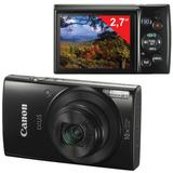 "Фотоаппарат компактный CANON IXUS 180, 20 Мп, 10х zoom, 2,7"" ЖК-монитор, HD, Wi-Fi, NFC, черный"