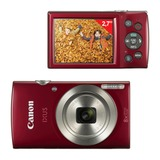 "Фотоаппарат компактный CANON IXUS 175, 20 Мп, 8х zoom, 2,7"" ЖК-монитор, красный"