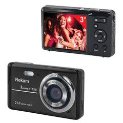 """Фотоаппарат компактный REKAM iLook S959i, 21 Мп, 4x zoom, 3"""" ЖК-монитор, HD, черный"""