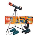 Набор LEVENHUK LabZZ MTВ3: микроскоп 150-900 кратный + телескоп, рефрактор, 2 окуляра+бинокль 6×21