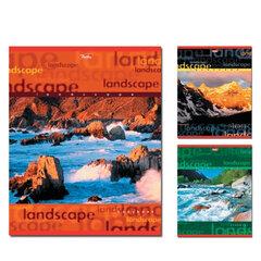 Тетрадь 48 л., HATBER, линия, обложка мелованный картон, «Пейзажи», 48Т5С2