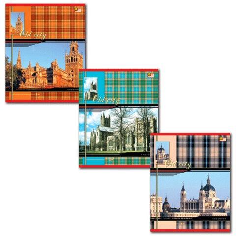 """Тетрадь 48 л., HATBER VK, клетка, обложка мелованный картон, """"Шотландка"""", 48Т5С1"""