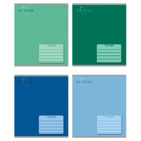 Тетрадь 48 л., ERICH KRAUSE, линия, обложка мелованный картон, «Duotone Upgrade» (Светлый+темный тон)