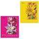 Тетрадь 48 л. BRAUBERG (БРАУБЕРГ), клетка, обложка мелованный картон, «Цветы», 4 вида