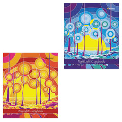 Тетрадь 48 л. BRAUBERG «ЭКО», клетка, обложка мелованный картон, внутренний блок офсет, «Абстракция»