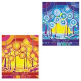 Тетрадь 48 л. BRAUBERG ЭКО, клетка, обложка мелованный картон, «Абстракция», 2 вида