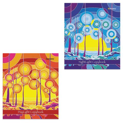 Тетрадь 48 л. BRAUBERG (БРАУБЕРГ) «ЭКО», клетка, обложка мелованный картон, «Абстракция», 2 вида
