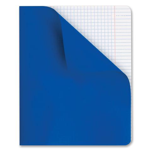 Тетрадь 48 л., HATBER, клетка, полимерная обложка, «Синий»