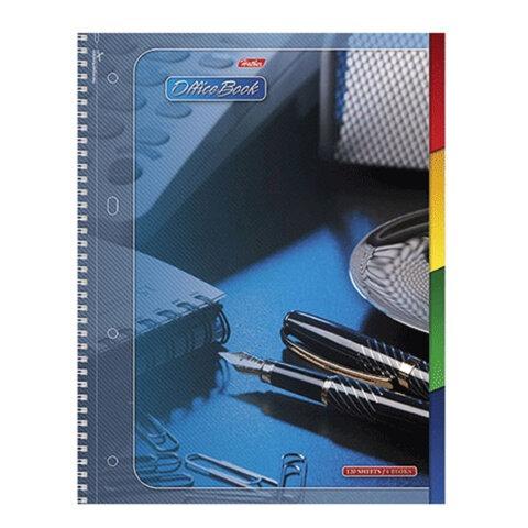 Тетрадь 120 л., А4 HATBER, 7БЦ, 4-цветный внутренний блок, спираль, кл.,, «Office Book» («Офис»)