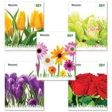 Тетрадь 48 л. BRAUBERG (БРАУБЕРГ) ЭКО, клетка, обложка мелованный картон, «Full Blossom» («Цветы»), 5 видов