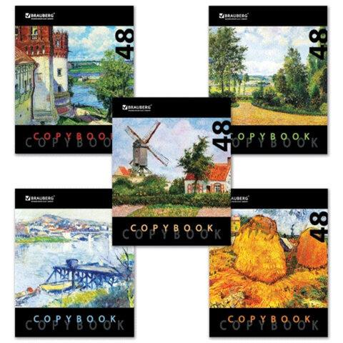 Тетрадь 48 л. BRAUBERG (БРАУБЕРГ) «ЭКО», клетка, обложка мелованный картон, «Art» («Искусство»), 5 видов