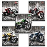 Тетрадь 48 л. BRAUBERG (БРАУБЕРГ), клетка, выборочный лак, «Wild Bikes» («Мотоциклы»), 5 видов