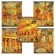 Тетрадь 48 л. BRAUBERG (БРАУБЕРГ), клетка, металлизированный картон, «Romantic Cities» («Города мечты»), 5 видов