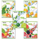 Тетрадь 96 л. BRAUBERG (БРАУБЕРГ), клетка, выборочный лак, «Fresh Line» («Фрукты»), 5 видов