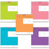 Тетрадь 18 л., ERICH KRAUSE, линия, обложка мелованный картон, «Новая классика»