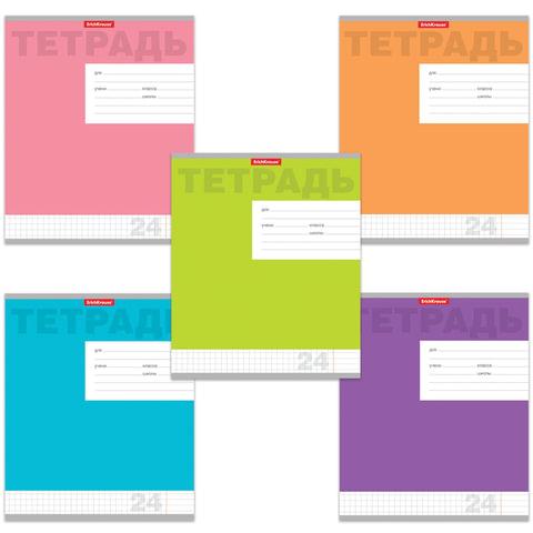Тетрадь 24 л., ERICH KRAUSE, клетка, обложка мелованный картон, «Новая классика»