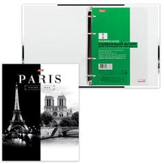Тетрадь на кольцах, 120 л., HATBER, ламинированная обложка, «Париж», 120ТК5B1 10506