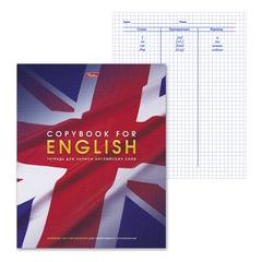 Тетрадь-словарик, 48 л., А5, HATBER, для записи английских слов, «Английский флаг», 48T5B5 10697