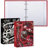 Тетрадь на кольцах 120 л., BRAUBERG (БРАУБЕРГ), А5, 175×215 мм, клетка, обложка ламинированный картон, «Роскошь», 2 вида