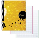 Тетрадь 120 л., HATBER, 7БЦ, 4-х цветная, гребень, клетка, «iFRESH-апельсин», 120Тт5B1гр 10623