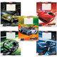 Тетрадь 24 л., ERICH KRAUSE, клетка, обложка мелованный картон, «Top speed» («Машины»)