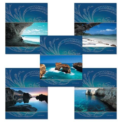 Тетрадь 48 л., ERICH KRAUSE, клетка, выборочный лак, «серебро», «Blue Lagoon» («Лагуна»)