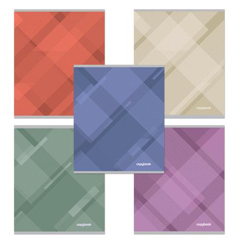 Тетрадь 48 л., ERICH KRAUSE, клетка, обложка мелованный картон, «Soft Line» («Абстракция»)