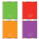 Тетрадь 60 л., ERICH KRAUSE, гребень, клетка, обложка мелованный картон, «Rainbow» («Цветная»)