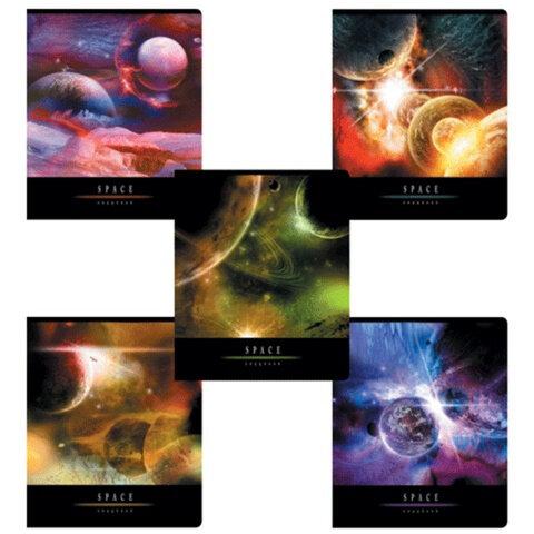 """Тетрадь 96 л., ERICH KRAUSE, клетка, обложка мелованный картон, """"Вселенная"""""""