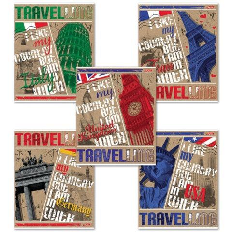 Тетрадь 48 л., HATBER, клетка, обложка КРАФТ ECO, «Увлекательное путешествие»