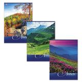Тетрадь 80 л., А4, HATBER VK, клетка, обложка мелованный картон, «Nature» («Природа»), 80Т4C3