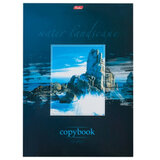 Тетрадь 80 л., А4, HATBER, склейка, клетка, обложка мелованный картон, «Пейзаж»