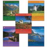 Тетрадь 96 л., HATBER VK, клетка, обложка мелованный картон, «Ландшафты Европы»