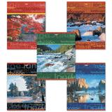 Тетрадь 96 л., HATBER, линия, обложка мелованный картон, «Пейзажи»