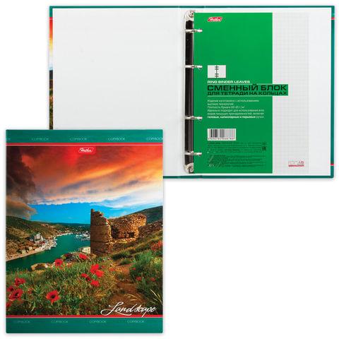 Тетрадь на кольцах, 120 л., HATBER, ламинированная обложка, «Великолепный ландшафт»