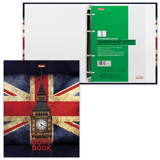 Тетрадь на кольцах, 240 л., HATBER, ламинированная обложка, «Британский флаг»