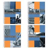 Тетрадь 80 л., A4, ERICH KRAUSE, гребень, клетка, обложка ламинированный картон, «Student's City» («Абстракция»)