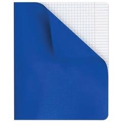 Тетрадь 96 л., HATBER, клетка, полимерная обложка, «Синяя», 96Т5пмB1