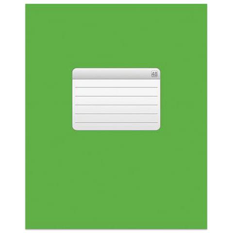 """Тетрадь 48 л., HATBER VK, клетка, обложка мелованный картон, """"ТЕТРАДЬ - Зеленая"""", 48Т5C1 12535"""
