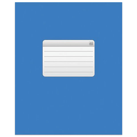 Тетрадь 48 л., HATBER VK, клетка, обложка мелованный картон, «ТЕТРАДЬ — Синяя»