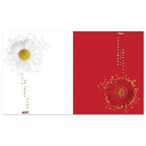 Тетрадь 48 л., HATBER, двойная, клетка, обложка мелованный картон, «Цветок»
